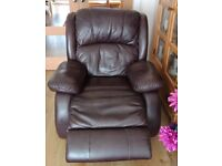 Leather/Electric 3 piece suite,