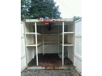 10 x 8 steel container shelved and light
