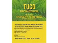TUCO Painting and Decorating Services, please call 07442 663 676 for a free quote