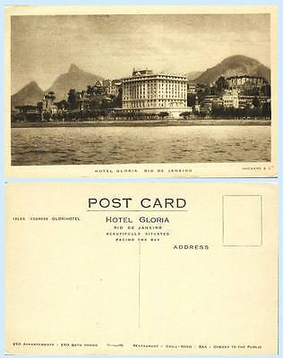 Hotel Gloria Rio de Janeiro Brazil Advertising Building Postcard - Architecture