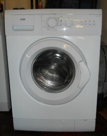 Logic L612WM12 washing machine 1200 variable spin 6kg load, NEW door seal As New £85