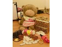 Teddy bear and accessories