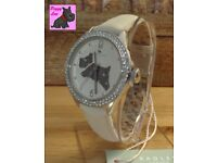 Radley RY2205 Ladies Cream Leather Strap Watch with stones – New – RRP: £95