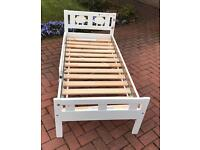 Single child bed and mattress for sale