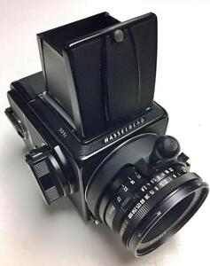 Hasselblad 501c body with A24 film back, Carl Zeiss 80mm f2.8 Planar T* CF lens and acute matt D screen