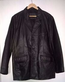 Large Ciro Cetterio Leather Jacket Mens Good Condition
