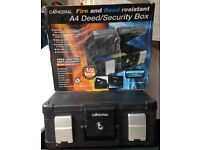 Cathedral Fire and flood resistant A4 Deed/Security/safe box