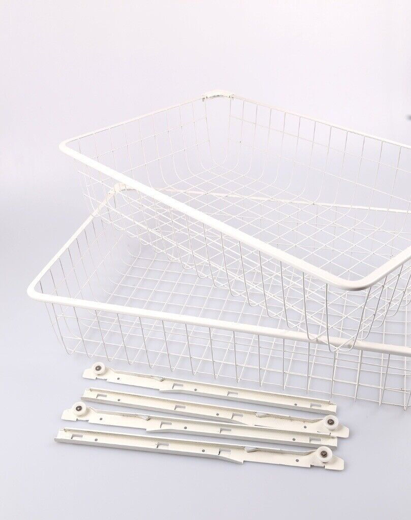 2 x Ikea wire baskets with runners to fit the ALGOT open wardrobe system |  in Guildford, Surrey | Gumtree