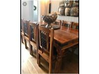 Balinese 6 chair dining table