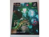 Nearly new textbook for A2 Physics