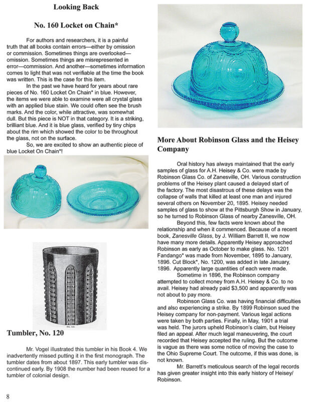Heisey Glass, vol. 2, 1906-1916 - Clarence Vogel - updated & enlarged
