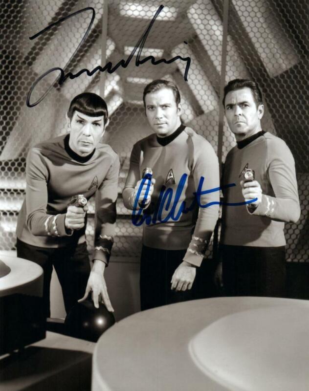 William Shatner Leonard Nimoy signed 8x10 Photo + COA autographed Picture nice