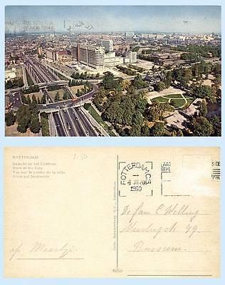 Aerial View Rotterdam Holland Netherlands 1960 Postcard