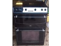 BELLING COOKER GLASS TOP DOUBLE OVEN AND GRILL FULLY WORKING ORDER