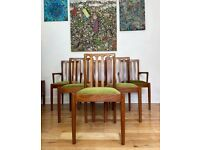 Beautiful Mid Century Modern Teak Dining Chairs Set of Six FREE LOCAL DELIVERY