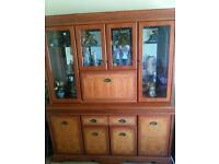 Yew solid wooden cabinet
