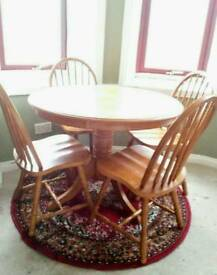 *URGENT* Lovely wooden dining table & 4 chairs