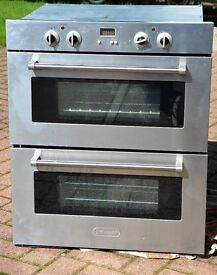 DeLongi stainless steel double fan over & grill (built under) (600mm wide)