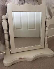 Chunky heavy Shabby Chic dressing table mirror