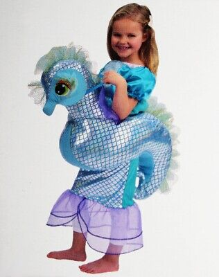 Girls Toddler SEAHORSE Ride in Halloween Costume Sea Horse Fish 3T 4T Purim NEW