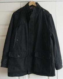 Mens Black Winter Coat, size XL.