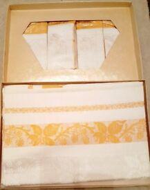 Vintage Irish Embroidered Table Linen – Brand new still in presentation box