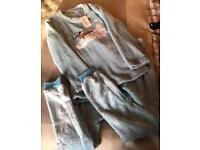Loungeable fleece pyjamas - MEDIUM NEW with tags