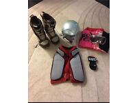 Snowboarding boots/helmet/googles and gear