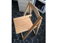 Folding chair and cabinet