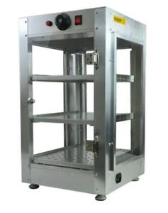 "Commercial-Counter-Top-Food-Pizza-Pastry-Warmer-Wide-Display-Case - 14"" x 14"" x 24""  FREE SHIPPING"