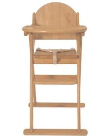 Immaculate Mothercare Wooden Highchair