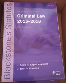 Blackstones statute book on criminal law 2015-2016