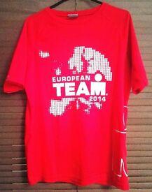 Original Ironman® Red European Team 2014 Running Shirt