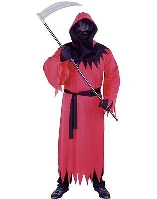 NEW Men's UNKNOWN PHANTOM RED Complete Halloween Costume Hooded Robe w/Face Mask