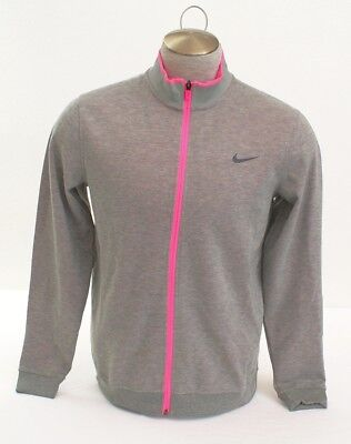 Nike Golf Tour Performance Heather Gray & Pink Zip Front Jacket Men's NWT Performance Tour Jacket
