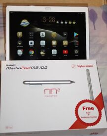 Huawei Mediapad M2 10 Inch Premium - 3GB Ram and 64GB storage - Boxed As New