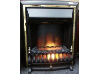 Log effect heater (Black)/FS18629, 3 months warranty, Delivery available within Devon/Cornwall