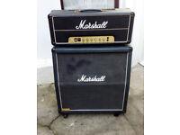 Classic 1980 Marshall 100mv head and JCM800 cab