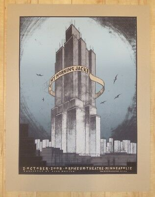 2008 My Morning Jacket - Minneapolis Silkscreen Concert Poster S/N by Jay Ryan