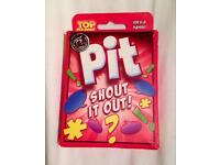 TOP CARDS PIT SHOUT IT OUT FAMILY TRADING TRAVEL CARD GAME.