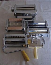 Marcato Atlas Chrome Pasta Machine and attachments, Pristine condition