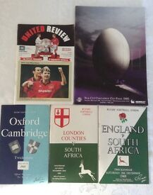 Collection of rugby programmes 1960 -1969