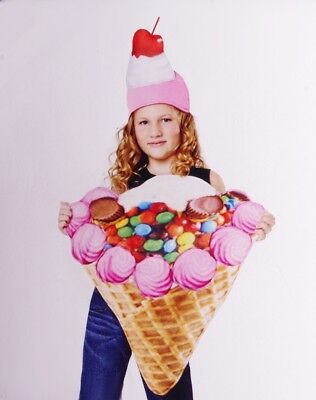 Peanut Butter Cup Dessert Halloween Purim Costume S M L NEW (Ice Cream Girl Kostüm)