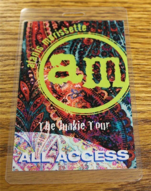 Vintage & Genuine Alanis Morissette Junkie Tour PERRi Laminated Backstage Pass