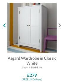 Asgard wardrobe in White