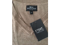 Latest boys slimline smart Next jumper in light brown skin colour, size XS,costs £45,bargain at £20