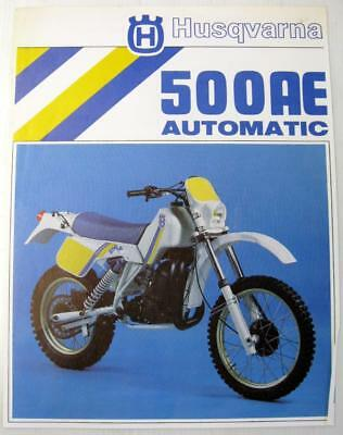 HUSQVARNA 500AE Automatic #15 17 733-03 Original Motorcycle Sales Sheet French