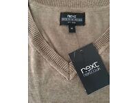 Latest boys slimline smart Next jumper in light brown skin colour, size XS,costs £49.95,bargain £20