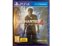 UNCHARTED 4 - PS4 - SEALED - EDINBURGH MURRAYFIELD