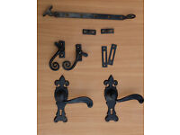 Traditional (Antique Effect) Window Stays, Fasteners and Pairs of Scroll Door Handles